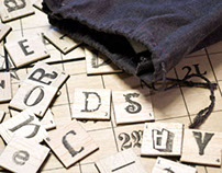 Typographic Word Game Board