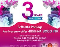 Yoga Studio Anniversary Flyer