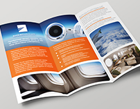 Brochure design for business aviation