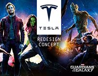 Tesla - Dashboard Redesign Concept (Marvel theme)