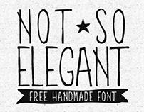 Not So Elegant - free font