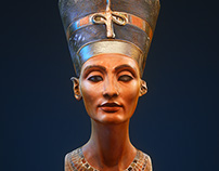 NEFERTITI 3D Scanned model, CGI Render by Octane.