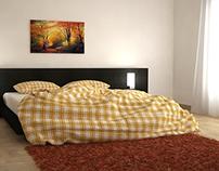 Bedroom modeling in Cinema 4D