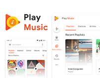 Google Play Music Redesign
