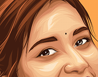 raashi khanna portrait vector art