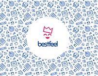 Logo and its evolution for BestFeel website
