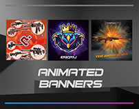 Animated banners for Instagram and web site