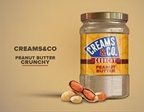 Creams & Co Peanut Butter Packaging Design