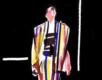 Balmain SS'15 fashion illustration