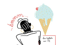 Illustrations to summer edition of IKS magazine