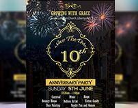 Anniversary flyer design