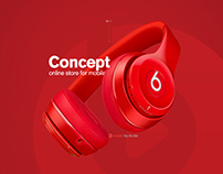 Beats music. Online store for mobile ui/ux