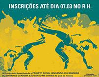 E-mail Interno e Cartaz Aulas de Capoeira - Europa