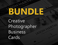 Bundle - 6 Creative Photographer Business Cards