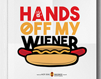 Hands Off My Wiener poster design