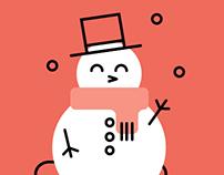 Flat christmas illustrations