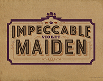 Impeccable Violet Maiden Typographic Illustration