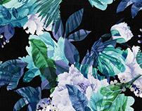 Bouquet Blues - Textile Print