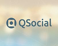 Logo concept funnel, QSocial