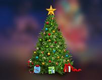 O2 Christmas: intranet game