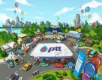 A project of the PTT advertising