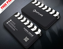 Film Clipper Free Business Card PSD