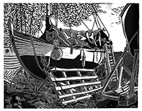 linocuts from England and Ireland