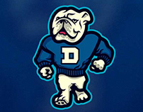 """""""Marching Griff"""" A mascot logo for Drake University"""