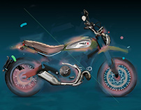 Glowing Scrambler / Offical Ducati Art Collection
