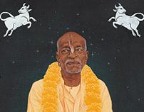 Portrait painting of Srila Prabhupada