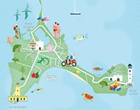 Mapa Ilustrado de Formentera