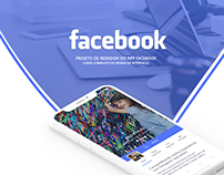 Projeto re-design do app Facebook