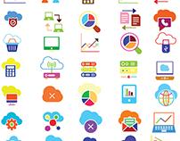 Colorful Flat Web Icons