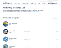 Disney World - My Family & Friends List