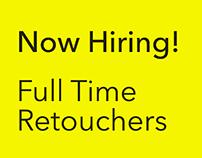 Hiring Fulltime Retouchers