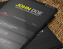 Material Design Business Card