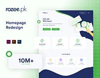 Rozee.pk Homepage Redesign