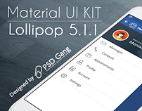 Material UI KIT Lollipop 5.1.1