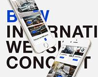 BMW International Website Concept