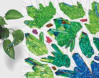 Geometric Crystal Scarf Illustration