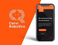 Cervi Robotics   Logo Design, UX/UI Design