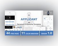 APPLICANT - Personal CV/Resume Template