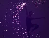 Dance live projection performance