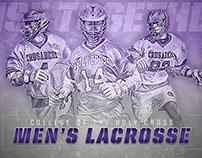 Holy Cross Men's Lacrosse Recruiting Graphics