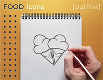 FOOD icons (outline)