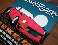 Retro car poster / flyer