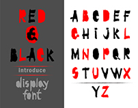 Red & Black display font