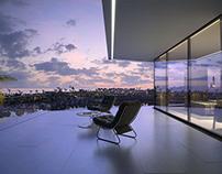 3D redner of a balcony