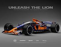 Orange Lion Euromaster Formula 1 Livery Concept