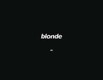 track of the day / Blonde